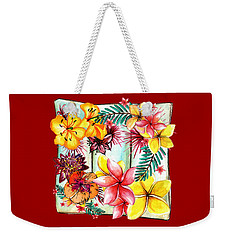 Weekender Tote Bag featuring the photograph Tropicana By Kaye Menner by Kaye Menner
