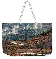 Weekender Tote Bag featuring the photograph Trossachs National Park In Scotland by Jeremy Lavender Photography