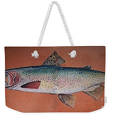 Trout Weekender Tote Bag by Andrew Drozdowicz