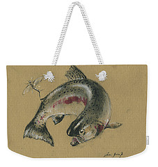 Trout Eating Weekender Tote Bag