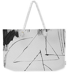 Weekender Tote Bag featuring the painting Troy Awakes by Steven Macanka