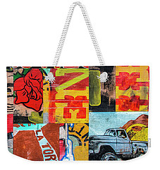 Truck And Roses Weekender Tote Bag