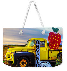 Truck With Strawberry Sign Weekender Tote Bag by Garry Gay