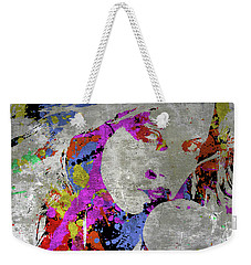 True Colors On Silver Let Me Paint You Weekender Tote Bag