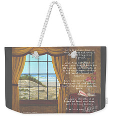 True Love Quote Weekender Tote Bag