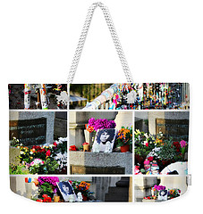 Weekender Tote Bag featuring the photograph Jim Morrison True To Himself by Katie Wing Vigil