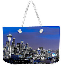 True To The Blue In Seattle Weekender Tote Bag