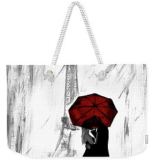 Weekender Tote Bag featuring the painting Truly All Yours by Leslie Allen