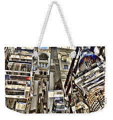Weekender Tote Bag featuring the photograph Trump International Hotel by Lorella Schoales