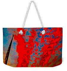 Trump Red Sunset Meets American Flag Weekender Tote Bag