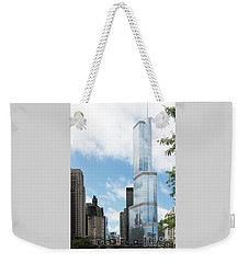Trump Tower In Chicago Weekender Tote Bag