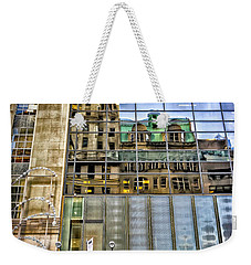 Weekender Tote Bag featuring the photograph Trump Tower With Reflections by Walt Foegelle