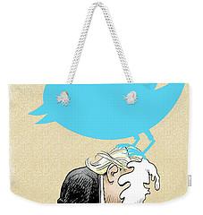 Trump Twitter Poop Weekender Tote Bag