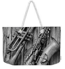 Trumpet And Sax Weekender Tote Bag