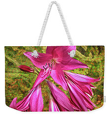 Weekender Tote Bag featuring the photograph Trumpet Flowers by Lewis Mann