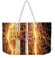 Trumpet Outlined With Sparks Weekender Tote Bag