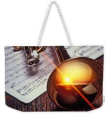 Trumpet With Sunset Weekender Tote Bag