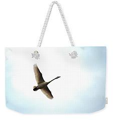 Trumpeter Swan In Flight Weekender Tote Bag