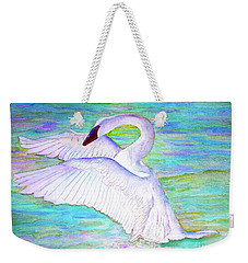 Trumpeter Swan Weekender Tote Bag by Janet Immordino