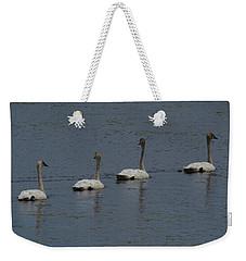 Trumpeter Swans Weekender Tote Bag by Sandra LaFaut