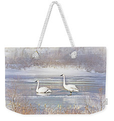 Weekender Tote Bag featuring the photograph Trumpeter Swan's Winter Rest by Jennie Marie Schell