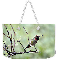Trumpeting Hummingbird Weekender Tote Bag