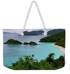 Weekender Tote Bag featuring the photograph Trunk Bay At U.s. Virgin Islands National Park by Jetson Nguyen