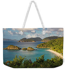 Weekender Tote Bag featuring the photograph Trunk Bay Morning by Adam Romanowicz