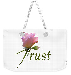 Trust Weekender Tote Bag by Ann Lauwers