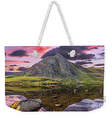 Weekender Tote Bag featuring the photograph Tryfan Mountain Sunset by Adrian Evans