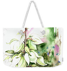 Trying On Wedding Dress Weekender Tote Bag