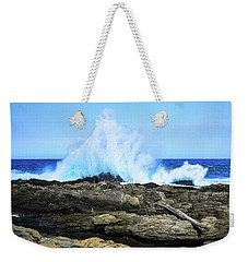 Tsitsikamma National Park Mpa Tidal Wave Splash Weekender Tote Bag