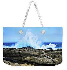 Tsitsikamma National Park Mpa Tidal Wave Splash Weekender Tote Bag by Jeff at JSJ Photography