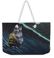 Tsunami Ship Weekender Tote Bag