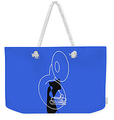 Weekender Tote Bag featuring the digital art Tuba In Blue by Jazz DaBri