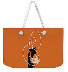 Weekender Tote Bag featuring the digital art Tuba In Orange by Jazz DaBri