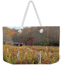 Weekender Tote Bag featuring the photograph Tucked Away - Barns by HH Photography of Florida