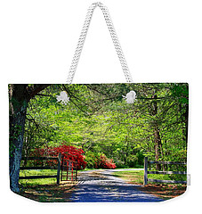 Weekender Tote Bag featuring the photograph Tucked Away by Kathryn Meyer