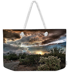 Tucson Mountain Sunset Weekender Tote Bag