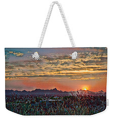 Weekender Tote Bag featuring the photograph Tucson Sunset Remix by Dan McManus