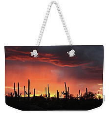 Tucson Sunset With Rain Weekender Tote Bag