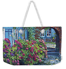 Tudor Hydrangea Garden Weekender Tote Bag