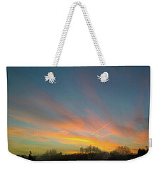 Weekender Tote Bag featuring the photograph Tuesday Sunrise by Anne Kotan