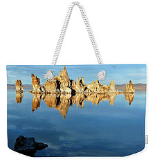 Tufa Reflection At Mono Lake Weekender Tote Bag
