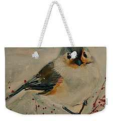 Tufted Blue Titmouse Weekender Tote Bag by Jani Freimann