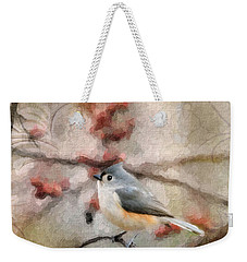Tufted Titmouse 2 Weekender Tote Bag