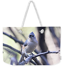 Tufted Titmouse Weekender Tote Bag by Trina Ansel