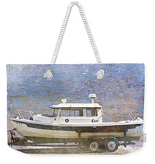 Tugboat Weekender Tote Bag by Cynthia Powell