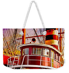 Weekender Tote Bag featuring the photograph Tugboat Helen Mcallister by Chris Lord