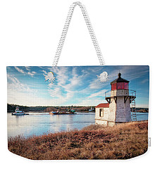 Tugboat, Squirrel Point Lighthouse Weekender Tote Bag
